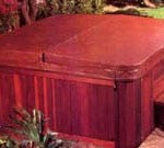 spa cover wooden box